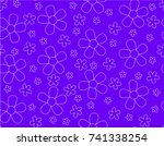 seamless pattern with flower...   Shutterstock .eps vector #741338254