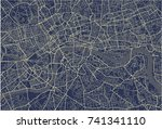 vector map of the city of... | Shutterstock .eps vector #741341110