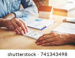 hand giving money united states ...   Shutterstock . vector #741343498