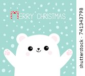 merry christmas candy cane.... | Shutterstock .eps vector #741343798