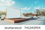 horizontal blank information... | Shutterstock . vector #741343954