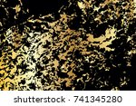 black and gold texture. grunge... | Shutterstock .eps vector #741345280