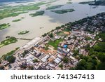 the helicopter shot from dhaka  ... | Shutterstock . vector #741347413
