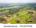 the helicopter shot from dhaka  ... | Shutterstock . vector #741347446