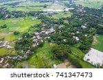 the helicopter shot from dhaka  ... | Shutterstock . vector #741347473