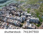 the helicopter shot from dhaka  ... | Shutterstock . vector #741347503
