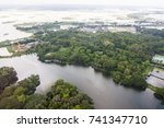 the helicopter shot from dhaka  ... | Shutterstock . vector #741347710