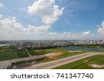 the helicopter shot from dhaka  ... | Shutterstock . vector #741347740