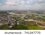 the helicopter shot from dhaka  ... | Shutterstock . vector #741347770