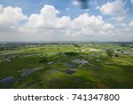 the helicopter shot from dhaka  ... | Shutterstock . vector #741347800