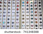 beautiful jewelry rings | Shutterstock . vector #741348388
