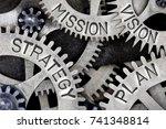 macro photo of tooth wheel... | Shutterstock . vector #741348814
