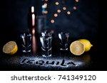 tequila shots | Shutterstock . vector #741349120