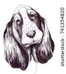 dog. illustration. symbol of... | Shutterstock . vector #741354820