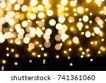 christmas holidays light... | Shutterstock . vector #741361060