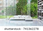 modern bright interiors. 3d... | Shutterstock . vector #741362278