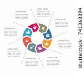 vector infographic template for ... | Shutterstock .eps vector #741363394
