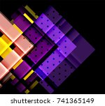 color arrows on black... | Shutterstock .eps vector #741365149