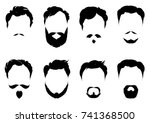 set of images of male with... | Shutterstock .eps vector #741368500