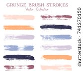 watercolor  ink or paint brush... | Shutterstock .eps vector #741370150