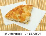 burek or pie with cheese and... | Shutterstock . vector #741373504