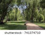 Public Park During Summer ...