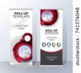 vertical roll up banner... | Shutterstock .eps vector #741376048