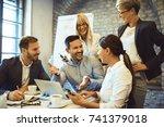 creative business team having... | Shutterstock . vector #741379018