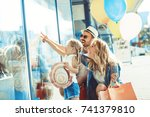 young parents with four years... | Shutterstock . vector #741379810