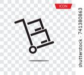handcart icon vector isolated... | Shutterstock .eps vector #741380863