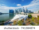 singapore financial district... | Shutterstock . vector #741384874