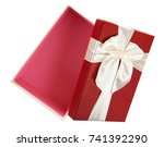 gift box on white background | Shutterstock . vector #741392290