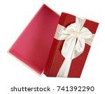 gift box on white background | Shutterstock . vector #741392290