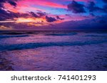 bright pink blue and orange... | Shutterstock . vector #741401293