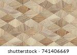seamless end grain wood texture.... | Shutterstock . vector #741406669