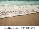 background soft wave of sea... | Shutterstock . vector #741408550