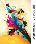 abstract illustration with... | Shutterstock .eps vector #741409186