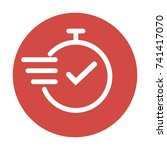 fast time vector icon. | Shutterstock .eps vector #741417070