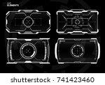 sci fi futuristic screen design | Shutterstock .eps vector #741423460