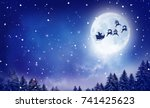merry christmas and happy new...   Shutterstock . vector #741425623
