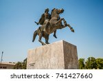 Small photo of Alexander the Great Statue. Thessaloniki, Greece