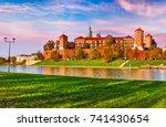 wawel castle famous landmark in ... | Shutterstock . vector #741430654