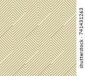 pattern stripe seamless gold... | Shutterstock .eps vector #741431263