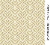 pattern stripe seamless gold... | Shutterstock .eps vector #741431380