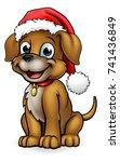 a cute dog cartoon character... | Shutterstock .eps vector #741436849