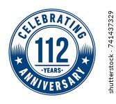 112 years anniversary logo... | Shutterstock .eps vector #741437329