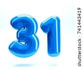 blue glossy celebrate letter... | Shutterstock . vector #741443419