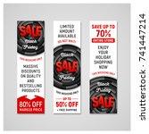 set of black friday sale...   Shutterstock . vector #741447214