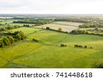 aerial view of buckinghamshire... | Shutterstock . vector #741448618