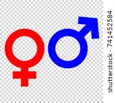 gender symbol   Shutterstock .eps vector #741452584